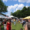 Booths and crowd at Taste of Amherst